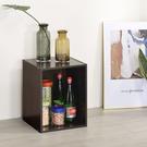 書櫃 收納 堆疊 置物櫃【收納屋】簡約加高單格櫃-胡桃木色& DIY組合傢俱