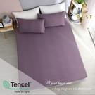 【BEST寢飾】天絲床包二件組 單人3.5x6.2尺 莫娜-紫 100%頂級天絲 萊賽爾 附正天絲吊牌 床單
