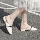 半拖鞋半托新款無後跟懶人包頭奶奶半拖鞋女夏外穿時尚百搭網紅單鞋  【快速出貨】