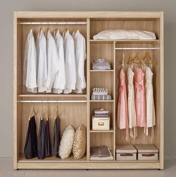 衣櫃 衣櫥 MK-076-2 格瑞斯6尺拉門衣櫥 【大眾家居舘】