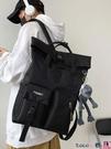 熱賣後背包男 日系後背包女高中大學生韓版工裝書包男大容量方形旅行電腦包【618 狂歡】