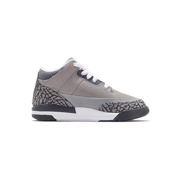 Nike Jordan 3 Retro (PS) 中童 灰白 AJ3 經典 復刻 爆裂紋 籃球鞋 429487-012