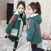 女童棉衣 兒童外套中長款2020新款冬裝棉服秋冬季正韓洋氣刷毛加厚【快速出貨】