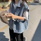 工裝牛仔馬甲外套女韓版春秋學生外穿寬鬆日系軟妹潮BF風馬甲