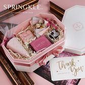 禮盒Springkle伴手禮盒鮮花盒結婚空盒生日包裝禮品盒永生花節日禮物-凡屋