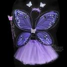 節慶王【W380176】紫蝴蝶綠色亮粉四件套,萬聖節服裝/派對用品/尾牙表演/角色扮演/蝴蝶/翅膀