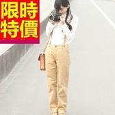 吊帶褲-清新個性設計女休閒長褲1色59g39【巴黎精品】