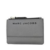 美國正品 MARC JACOBS 黑色LOGO防刮皮革證件/鑰匙零錢包-墨灰【現貨】