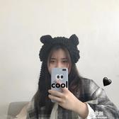 一秒變身小熊的可愛保暖針織毛線貓耳朵護耳罩 包郵【易家樂】
