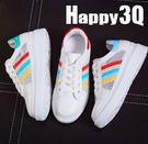 鏤空繽紛鞋帶運動休閒鞋-紅/藍/綠35-39【AAA0214】預購