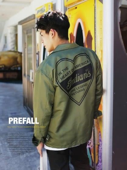 【找到自己】韓國 防風夾克 潮流外套 軍事夾克 軍裝 男 外套 外搭