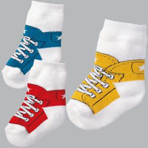 *甜蜜蜜親子童裝*可愛《運動鞋造型》假鞋襪~百搭短襪((3雙組))