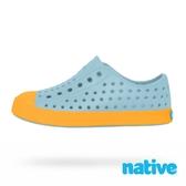 native 小童鞋 JEFFERSON 小奶油頭鞋-粉藍x芥末黃