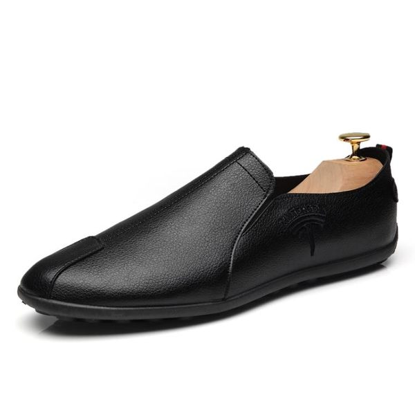 男鞋豆豆鞋一腳蹬懶人鞋皮鞋春季韓版百搭英倫潮休閒鞋社會鞋小伙