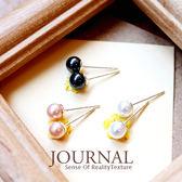 925 純銀5mm 氣質珍珠針式耳環_ 質物日誌Journal