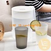防摔冷水壺家用超大容量耐高溫白開水杯茶壺套裝帶刻度塑料【白嶼家居】
