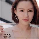 女神之路~雜誌款造型珍珠鏤空耳環708511/1色