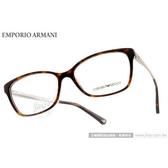 EMPORIO ARMANI 光學眼鏡 EA3026F 5026 (琥珀淡金) 簡約基本款 平光鏡框 # 金橘眼鏡