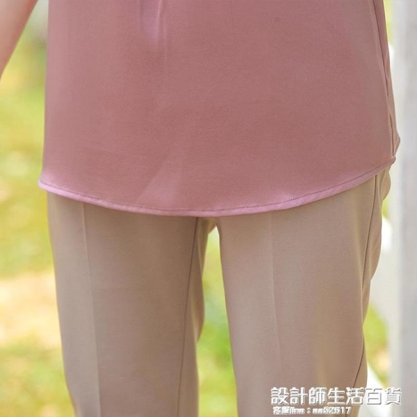 結婚禮服年輕媽媽夏裝短袖兩件套喜婆婆婚宴中老年女洋氣減齡套裝 設計師生活