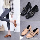 包鞋 時尚單鞋樂福鞋女鞋小皮鞋粗跟英倫風韓版高跟女士鞋 瑪麗蘇