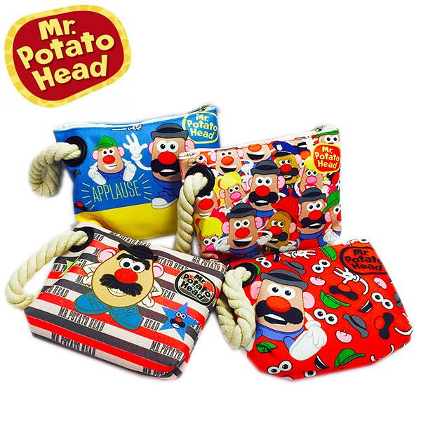蛋頭先生Mr.Potato 麻繩手提帆布包 收納包 化妝包 旅行包 萬用包 外出包 手提包 筆袋