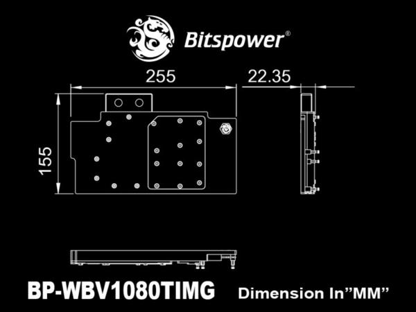 [地瓜球@] Bitspower 顯示卡 水冷頭 全覆式設計 支援 MSI GTX 1080 Ti GAMING X