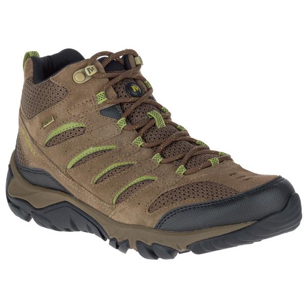 MERRELL 男款 WHITE PINE MID VENT GORE-TEX®  高筒防水戶外多功能鞋-橄欖綠 ML09553