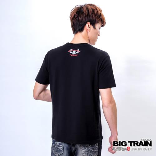 BIG TRAIN 骷髏神尊圓領T-男-黑色