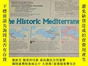 二手書博民逛書店National罕見Geographic國家地理雜誌地圖系列之1982年12月 The Historic Medi