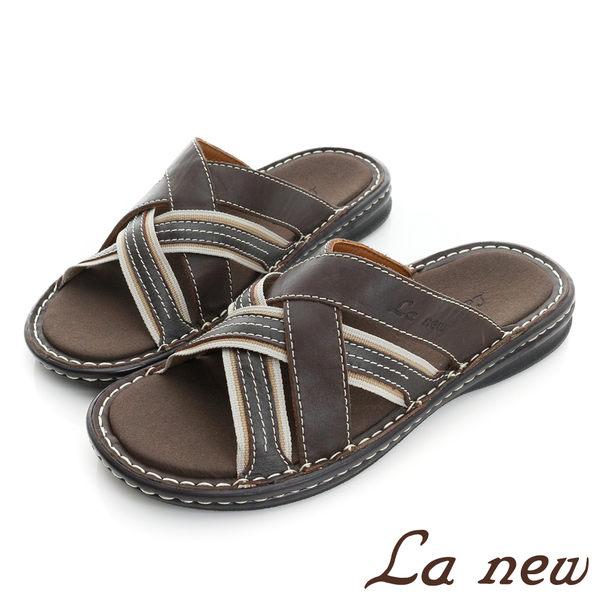 【La new outlet】PU氣墊拖鞋 (男220075324)