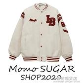 BLACK加厚棒球服女年秋冬新款韓版寬鬆美式復古夾克毛呢外套 雙十二全館免運