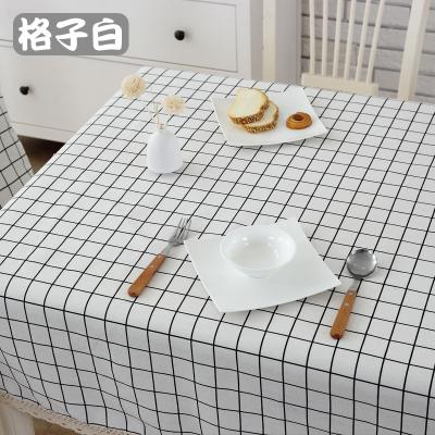 桌布-防水棉麻桌布布藝長方形格子田園小清新茶几台布圓桌方餐桌蓋布巾 鉅惠85折