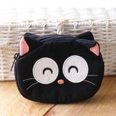 零錢包/Kiro貓‧日系貓咪拼布包 黑貓  零錢包 【221823】