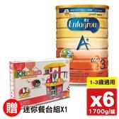 2021.06 美強生 優兒A+ 兒童營養奶粉 3號(1-3歲) (新升級配方) 1700gX6罐 (0~1歲洽客服)專品藥局