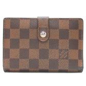 LOUIS VUITTON LV 路易威登 棋盤格釦式二折中夾 N61664 【二手名牌BRAND OFF】