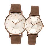 【台南 時代鐘錶 Klasse14】VO18VG001M VO18VG001W 復古麂皮 Volare 皮革錶帶對錶 米/咖啡 情人對錶