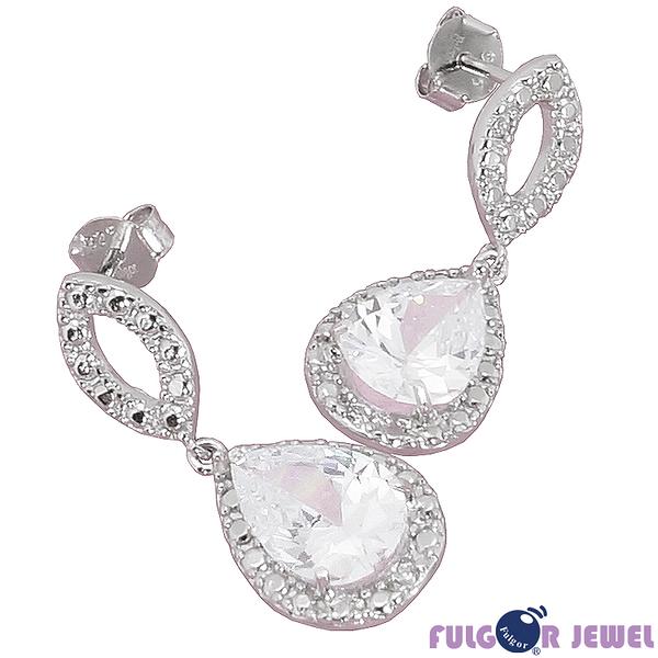 FU銀飾 意大利流行飾品 生日情人節禮品 贈品 璀璨耀眼925純銀耳環【Fulgor Jewel】