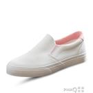 小白鞋女2018春季新款低幫鞋一腳蹬板鞋懶人休閒鞋韓版樂福鞋 pinkQ 時尚女裝