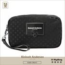 Kinloch Anderson 金安德森 手拿包 波點 雙層拉鍊收納包 黑色 KA180509BKF 得意時袋
