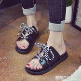 一字拖鞋厚底人字拖鞋女時尚外穿涼拖鞋  露露日記
