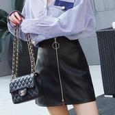 新款小皮裙半身裙顯瘦氣質女a字裙