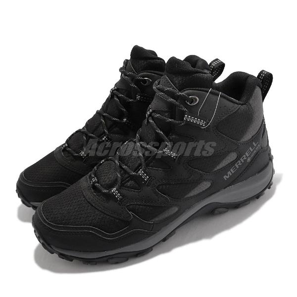 Merrell 戶外鞋 West Rim Sport Mid GTX 黑 男鞋 高筒 登山鞋 【ACS】 ML036519