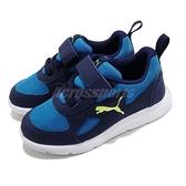 Puma 慢跑鞋 Fun Racer AC PS 藍 白 童鞋 中童鞋 魔鬼氈 運動鞋 【ACS】 19297105