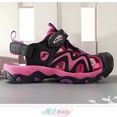 中大女童運動鞋 防踢護趾水陸兩用運動涼鞋 魔法Baby