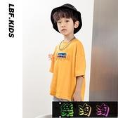男童短袖T恤兒童寬鬆寬版韓版童裝洋氣體恤上衣中大童夏裝潮 樂淘淘