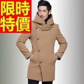 毛呢外套-羊毛紳士防寒短版男風衣大衣3色62n27【巴黎精品】