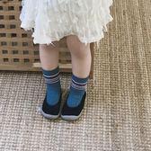 2018新款女童可愛小單鞋奶奶鞋時尚一腳蹬地板鞋韓繫軟透氣針織鞋禮物限時八九折