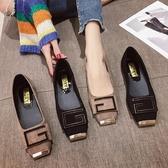 衣普菈 豆豆鞋平底鞋媽媽鞋懶人鞋一腳蹬休閒鞋女鞋