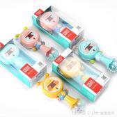 施早教益智嬰兒玩具 新生兒寶寶手搖鈴音樂 撥浪鼓1-12個月  LannaS