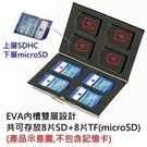 【加購價】DigiStone 16片裝多功能雙層記憶卡收納盒(8SD+8TF)-銀X1【不鏽鋼外殼】【雙層EVA設計】